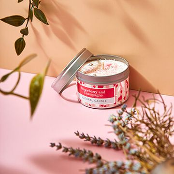 Strawberry Champagne Small Tin Candle
