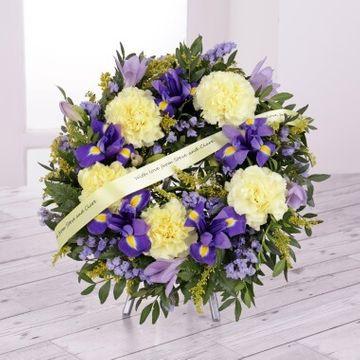 Personalised Funeral Iris & Carnation Wreath
