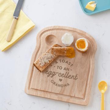 Personalised Eggcellent Grandparent Breakfast Egg Board