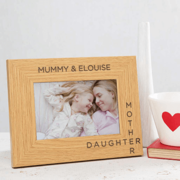 Personalised Mother Daughter Wooden Photo Frame