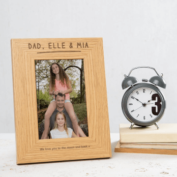 Personalised Names Wooden Photo Frame