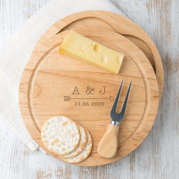 Personalised Anniversary Cheese Board Set