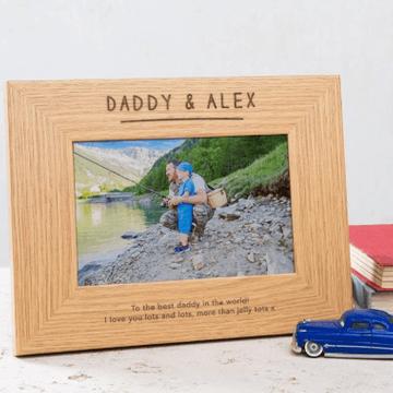 Personalised Dad & Me Photo Frame