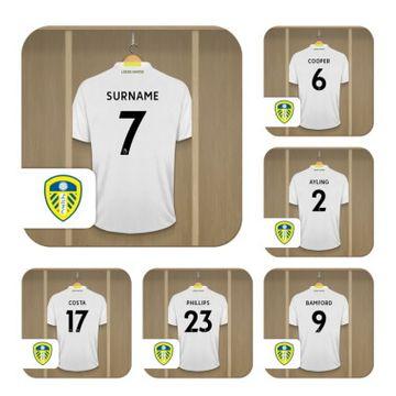 Personalised Leeds United FC Dressing Room Coasters