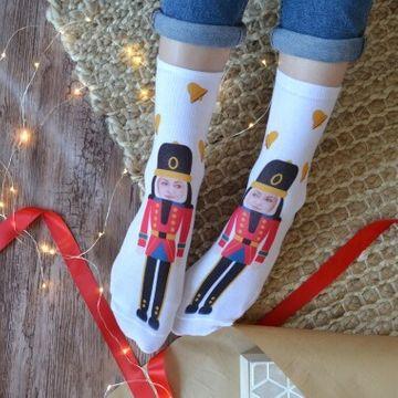 Personalised Nutcracker Photo Socks