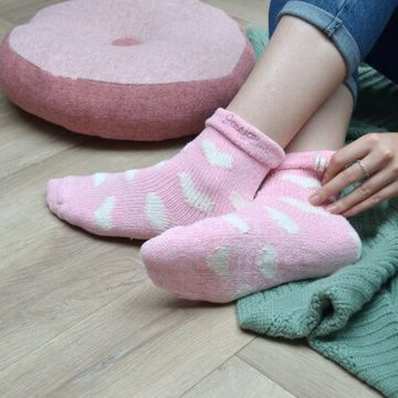 Personalised Embroidered Chenille Heart Socks