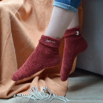 Personalised Embroidered Chenille Socks
