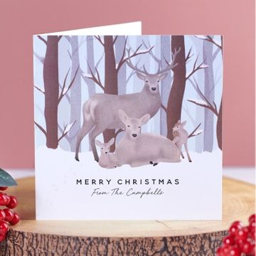 Personalised Stag Christmas Cards - Pack of 10