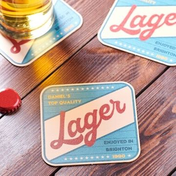 Personalised Retro Style Beer Mat