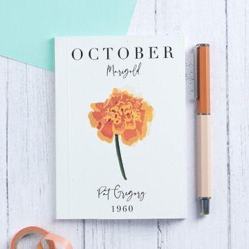 Personalised Birth Flower Pocket Notebook