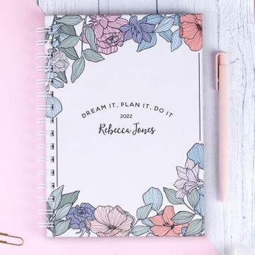 Personalised Floral Yearly Planner