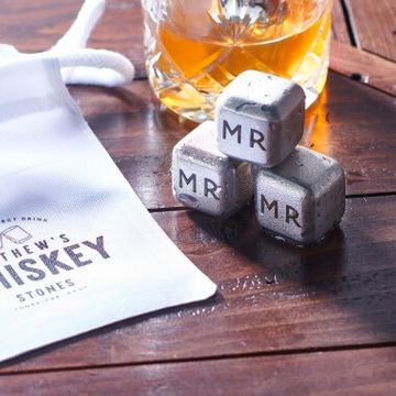 Personalised Metal Whiskey Cubes