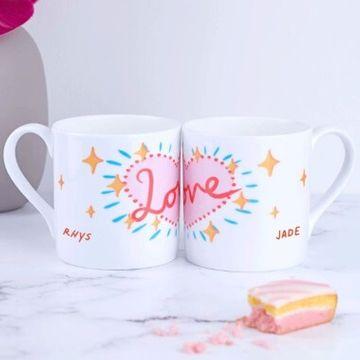 Personalised Matching Love Mugs