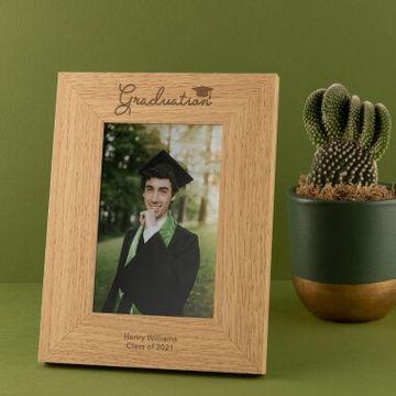Personalised Wooden Graduation Photo Frame