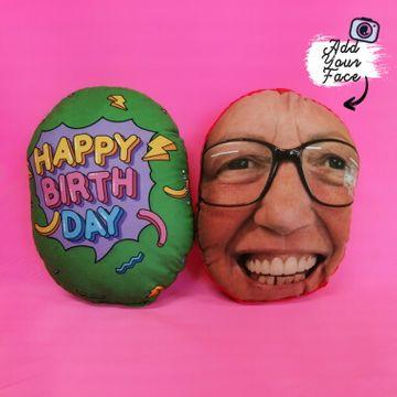 Personalised Happy Birthday Face Cushion