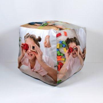 """Personalised Photo Cube Cushion - 15"""""""