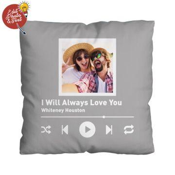 Personalised Song Photo Cushion