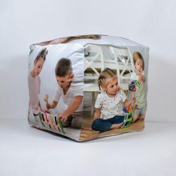 """Personalised Photo Cube Cushion - 10"""""""