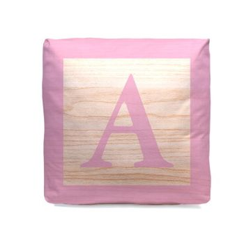 Personalised New Baby Cube Cushion - Pink
