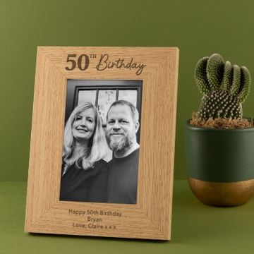 Personalised 50th Birthday Photo Frame