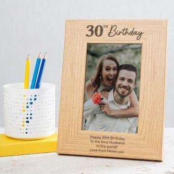 Personalised 30th Birthday Photo Frame