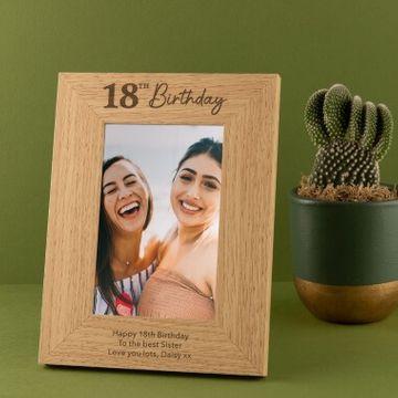 Personalised 18th Birthday Photo Frame