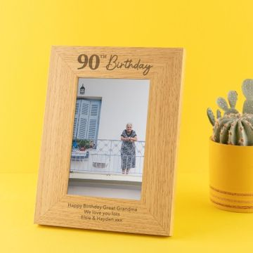 Personalised 90th Birthday Photo Frame