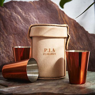 Personalised Copper Shot Glass Set