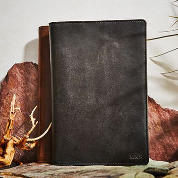 Personalised Vintage Leather Lined Notebook