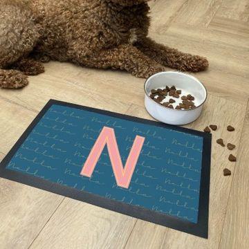 Personalised Initials Pet Bowl Mat