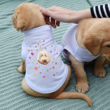 Personalised Dog Illustration Spotty T-Shirt