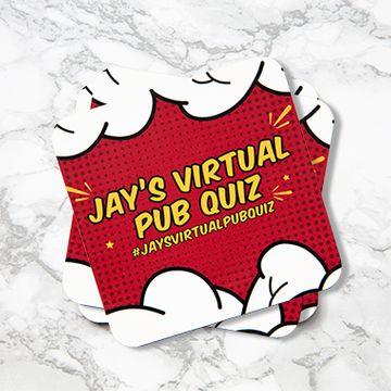 Jay's Virtual Pub Quiz Coaster Set