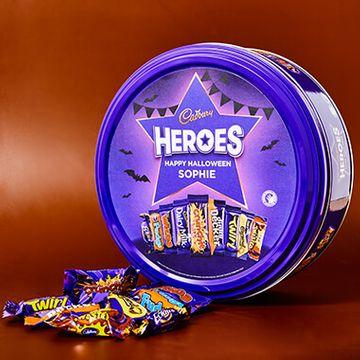 Personalised Halloween Cadbury Heroes Tin