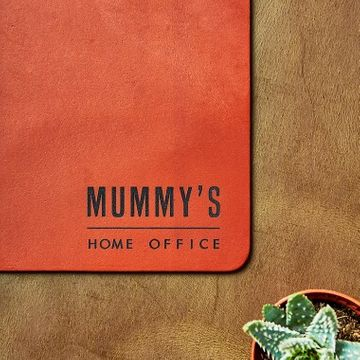 Personalised Vintage Leather Home Office Desk Mat