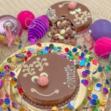 Personalised Vegan Chocolate Mini Rudolph Smash Cake