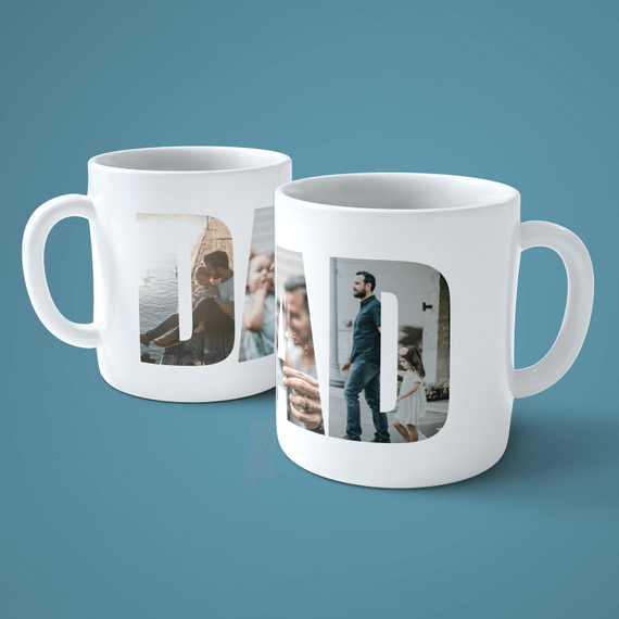 Personalised Dad 3 Photo Mug