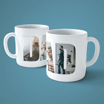 Personalised Dad 3 Photo Mug