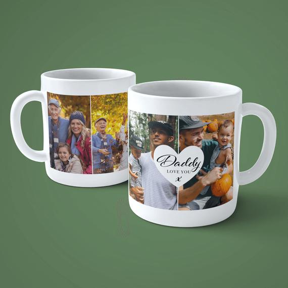 Personalised 4 Photo Dad Mug