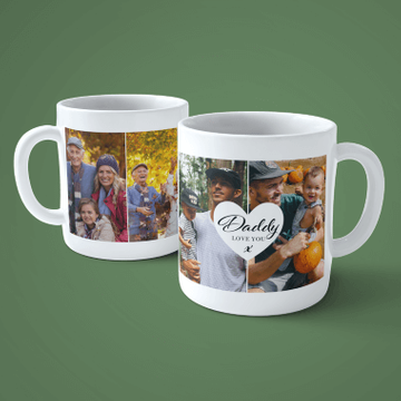 Personalised 4 Photo Dad Mug