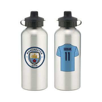 Personalised Manchester City FC Aluminium Water Bottle