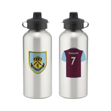 Personalised Burnley FC Aluminium Water Bottle