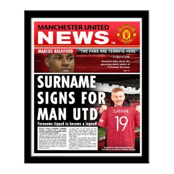 Personalised Manchester United FC News