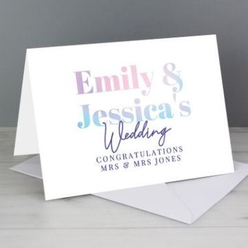 Personalised Holographic Wedding Card