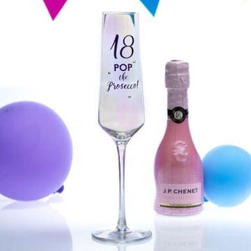 18th Birthday Lustre Prosecco Glass