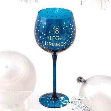 18th Birthday Opulent Wine Glass