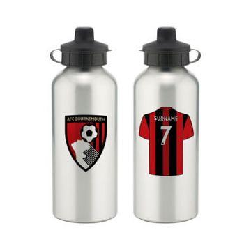 Personalised AFC Bournemouth Aluminium Water Bottle