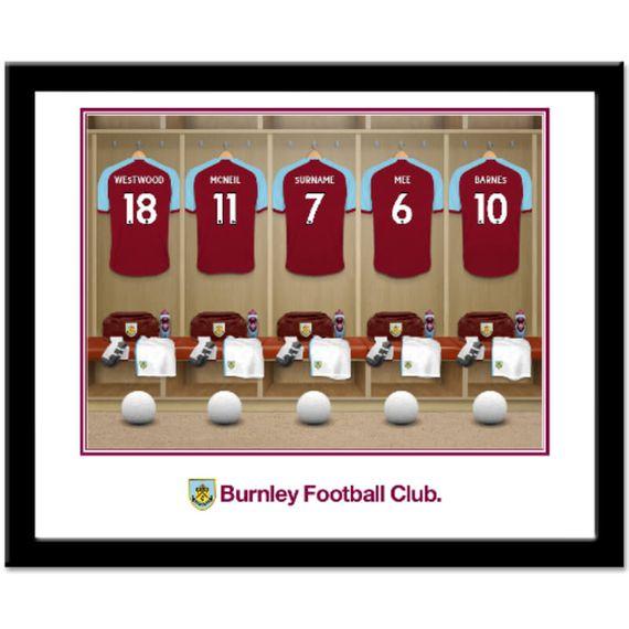 Personalised Burnley FC Dressing Room Framed Print