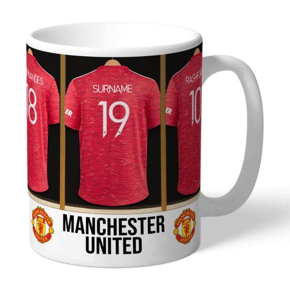 Personalised Dressing Room Mug - Man Utd