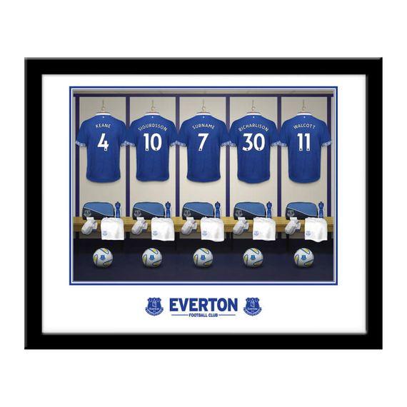 Personalised Everton Dressing Room Framed Print