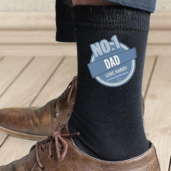 Personalised No.1 Dad Mens Socks